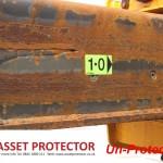 JCB Salt handler boom arm corrosion a un protected example 2