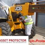 JCB Salt handler boom arm corrosion a un protected example 3